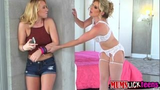 A heated lesbian affair with Bailey Brooke and Cory Chase