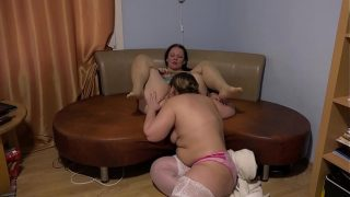 Deep fisting and pussy licking Fat lesbian helped a mature girl friend get a stormy orgasm