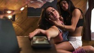 Kristen Scott interrupts a lesbian sex!