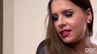 Lesbian Domina Brandy Fucks Submissive Athina With Strap-On