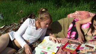 pure lesbian teen girls attacked by horny guys while having a good time in the field xxx