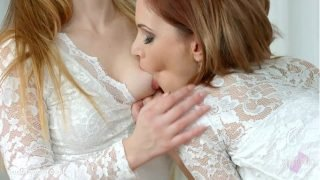 Shy girlfriend by Sapphic Erotica – Candy Sweet and Olivia Grace lesbians