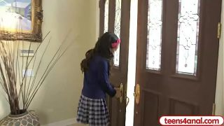 Virgin teen opens her backdoor so she stays a true virgin